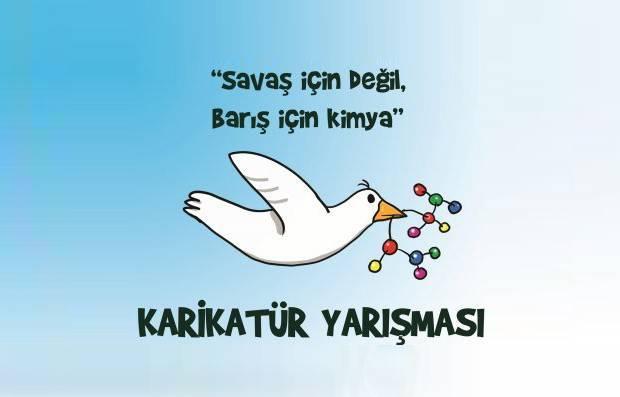 """İstanbul Tabip Odası, Deriteks Sendikası ve TMMOB Kimya Mühendisleri Odası İstanbul Şubesi'nin öncülüğünde düzenlenen """"Savaş İçin Değil Barış İçin Kimya"""" konulu karikatür yarışması sonlandı."""