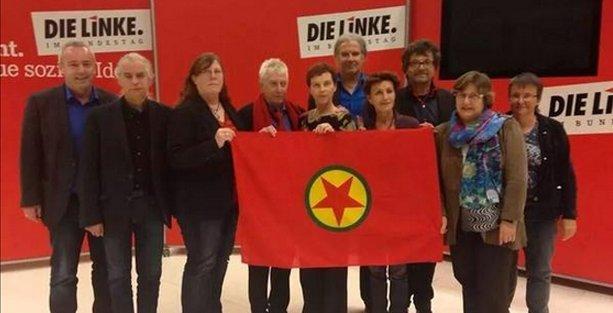 10 Almanya milletvekili daha PKK bayrağı açtı