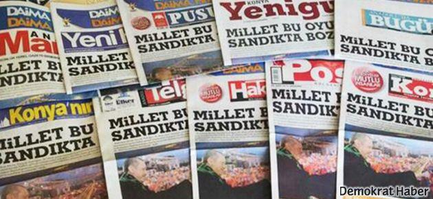 10 gazete, tek manşet