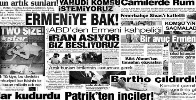 Nefret söyleminin ana hedefi Yahudiler, Ermeniler ve Kürtler