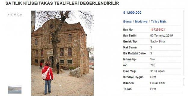 Bursa'da 'sahibinden' satılık Bizans Kilisesi!