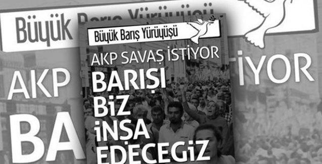 Büyük Barış Yürüyüşü'nün yasaklanmasının ardından Barış Bloku'ndan yeni karar