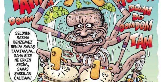Erdoğan Leman'ın kapağında 'savaş tam tamları' çalıyor