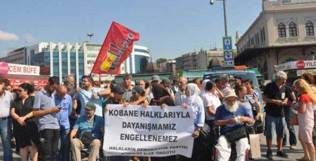 HDP, Rojava standına polis engelini protesto etti