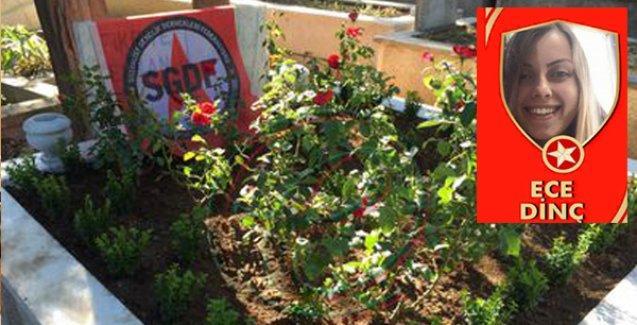 Irkçı bir grubun saldırısına uğrayan Ece Dinç'in mezarını arkadaşları yeniden yaptı