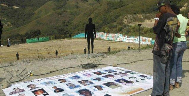 Kolombiya'da şehir çöplüğünde toplu mezar bulundu