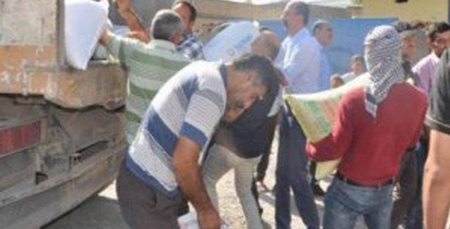 Rojava'ya, Diyarbakır'ın 15 köyünden 65 ton buğday yardımı yapıldı