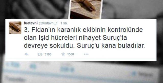 'Suruç katliamını, Erdoğan'ın talimatı ile Hakan Fidan'ın kontrolündeki IŞİD hücreleri gerçekleştirdi'