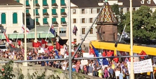 Suruç'taki katliam İsviçre'de de protesto edildi