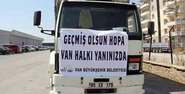 Ağrı, Iğdır, Van ve Diyarbakır belediyelerinin gönderdiği yardımlar Hopa'ya ulaştı