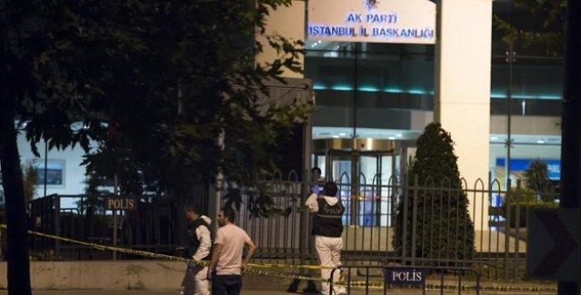 AKP İstanbul İl Başkanlığı'na silahlı saldırı, Davutoğlu'ndan açıklama