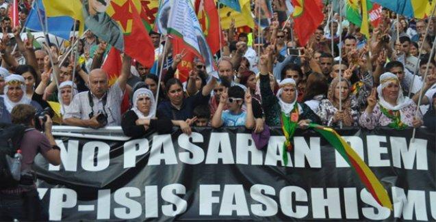 'AKP'nin savaş politikası' Almanya'da binlerce kişi tarafından protesto edildi