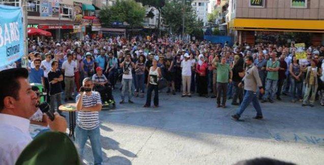 Ankara'da 57 STK ve siyasi partiden 'sana savaş yaptırmayacağız' eylemi