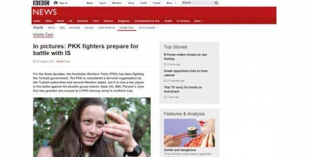 BBC'nin 'PKK savaşçıları IŞİD'le savaşa hazırlanıyor' haberi Dışişleri Bakanlığı'nı rahatsız etti
