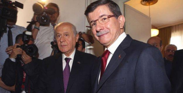 Davutoğlu ve Bahçeli bugün koalisyonu görüşecek