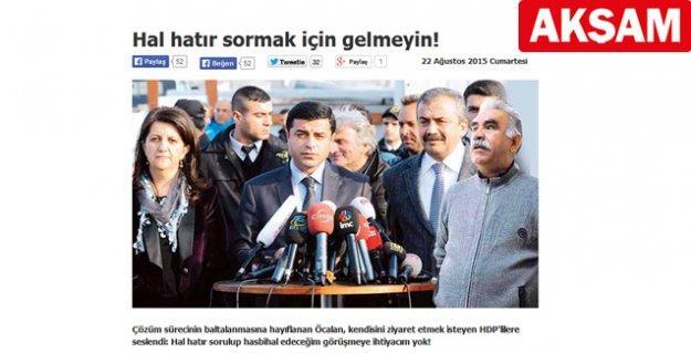 Erdoğan'a 'ilan-ı aşk eden' Ethem Sancak'ın Akşam'ı, tecrit altındaki Öcalan'dan 'mesaj getirdi'