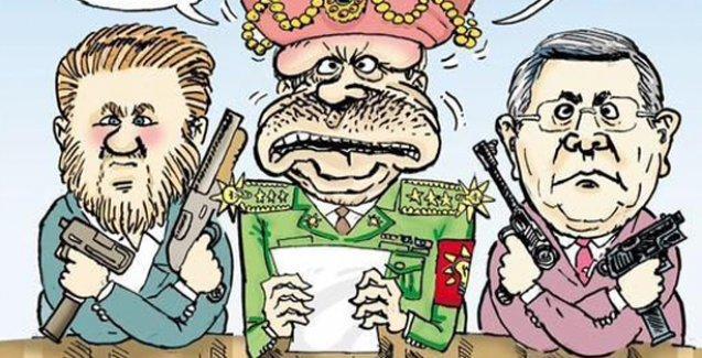 Erdoğan Leman'ın kapağında: Bir yanında Yiğt Bulut diğer yanında Mehmet Metiner