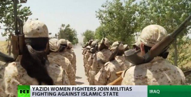 Ezidi kadınlar IŞİD'e karşı silah kuşandı