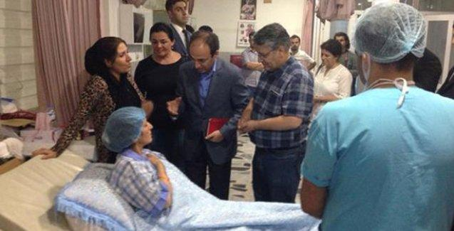 HDP Zergele'de yaralananları ziyaret etti