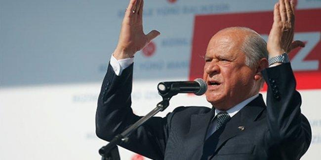 Bahçeli'den 'MHP'yi iktidar yaptım' diyen Tuğrul Türkeş'e ihraç yanıtı