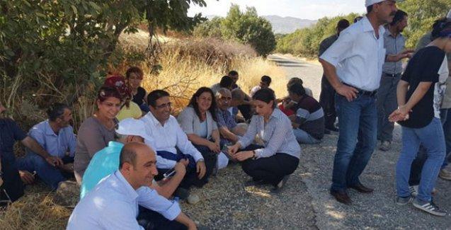 HDP'li vekillerden canlı kalkan eylemine destek nöbeti