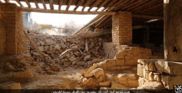 IŞİD, 'Mar Elian' manastırını buldozerlerle yıktı