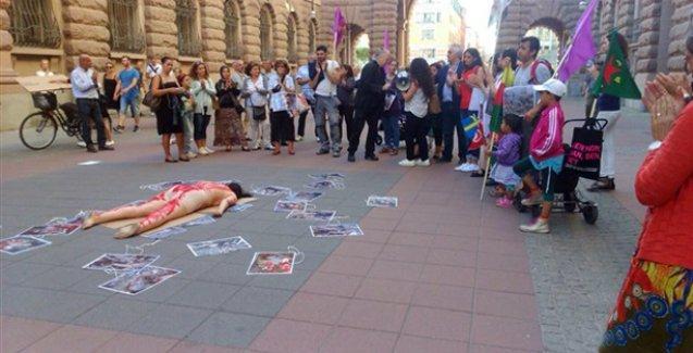 Kevser Eltürk'ün cenazesine işkence ve teşhir İsveç'te protesto edildi