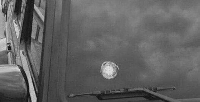 Mehmet Topal'ın camına çarpan mermi tesadüfen gelmiş!