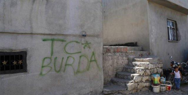 Şırnak'ta polis eve baskın düzenledi, evin duvarına 'TC BURDA' yazdı