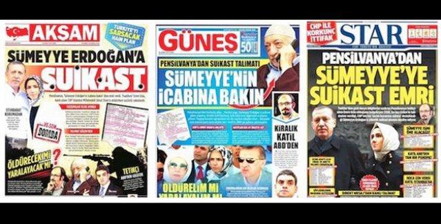 'Sümeyye Erdoğan'a suikast planı' iddiasına sahte diyen 2 savcı için dosya açıldı!