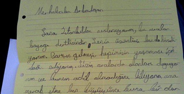 12 yaşındaki Alp'ten Cizreli yaşıtlarına mektup: Barışın gelmesi için dua ediyorum