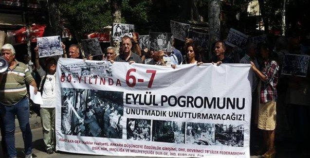 6-7 Eylül Pogromu Ankara'da protesto edildi
