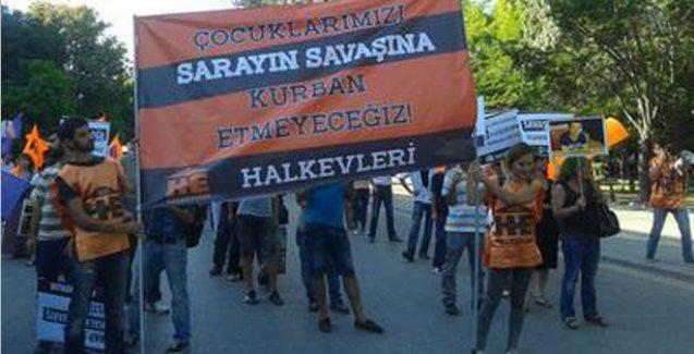 Ankara'daki barış mitinginde 'Saray' yasağı