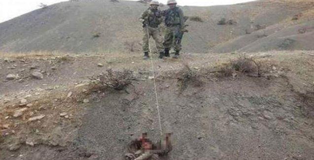 Askerlerden yaşamını yitiren HPG'linin cenazesine işkence