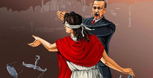Azeri sanatçı ülkelere göre adaletin nasıl değiştiğini çizdi: Erdoğan adaleti tokatlıyor