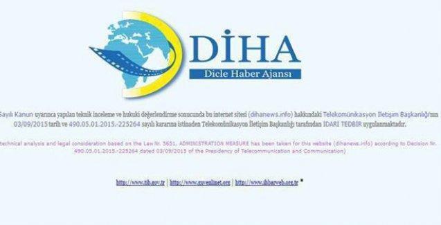 DİHA'ya 9'uncu kez erişim engeli