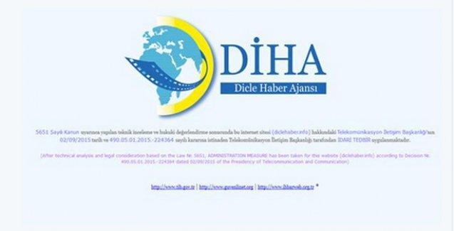 DİHA'nın yeni adresine de erişim engeli