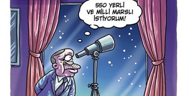 Erdoğan Penguen'in kapağında: 550 yerli ve milli Marslı istiyorum