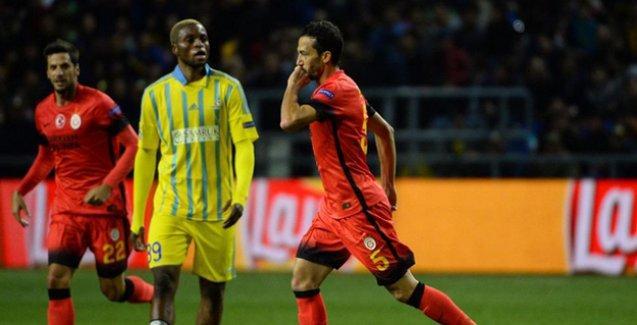 Galatasaray galibiyeti son anda kaçırdı