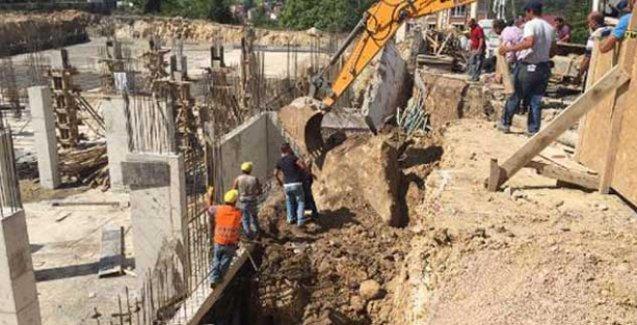 Hastane inşaatında göçük, 1 işçi öldü
