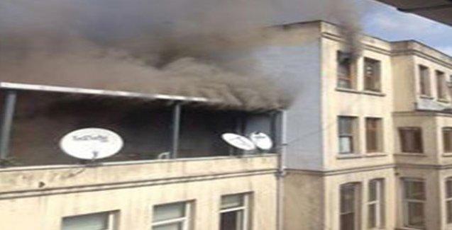 HDP Beşiktaş ilçe başkanlığında yangın!