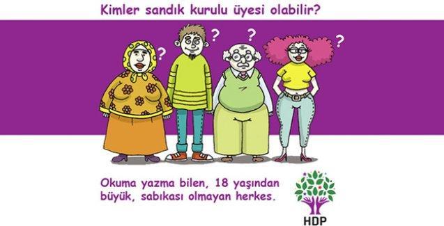 HDP, sandık görevlilerinin yapacaklarını karikatürlerle anlattı