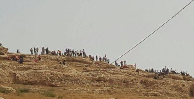 İdil'den yola çıkan halk Cizre'ye ulaşmaya kararlı