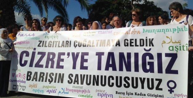 Kadınlar İstanbul'dan Cizre'ye doğru yola çıktı: 'Barışın dili olmaya gidiyoruz'