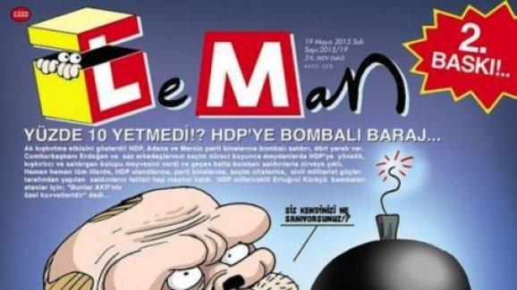 LeMan'a 'HDP'ye bombalı baraj' kapağından soruşturma