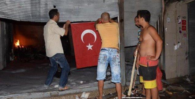 Mersin'de Kürt yurttaşların iş yerleri yakıldı
