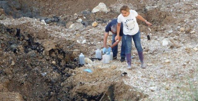 Sakarya'da bir taş ocağından 12 kamyon dolusu kimyasal atık çıktı