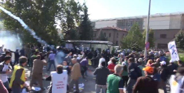 Ankara'daki katliamın hemen ardından polisin saldırı görüntüleri ortaya çıktı