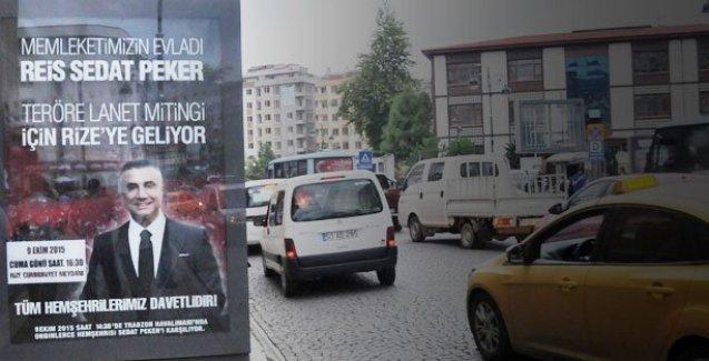 Çete lideri Sedat Peker'li 'teröre lanet' mitingi!