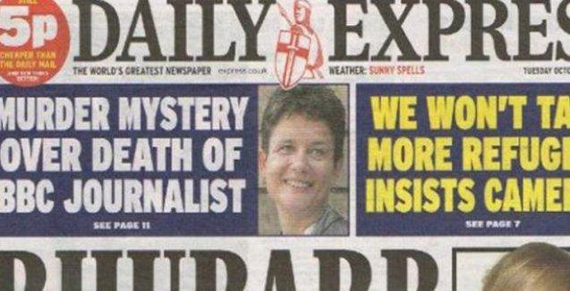 Daily Express: 'Eski muhabir cinayete kurban gitmiş olabilir'